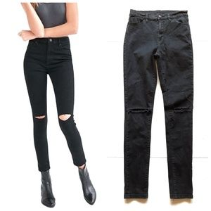 BDG Twig High Rise Distressed Black Skinny Jeans